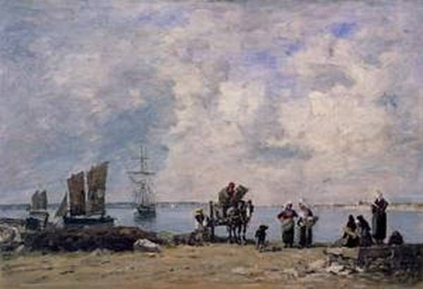 Fishermens Wives at the Seaside 1872